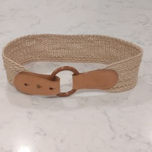 MAGID Vintage Brown Loop Ring Belt